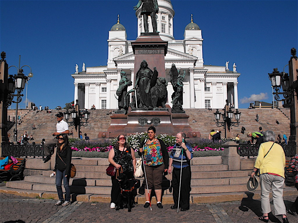 Deb, Nancy & Jerry in front of a Russian Orthodox Church in St. Petersburg