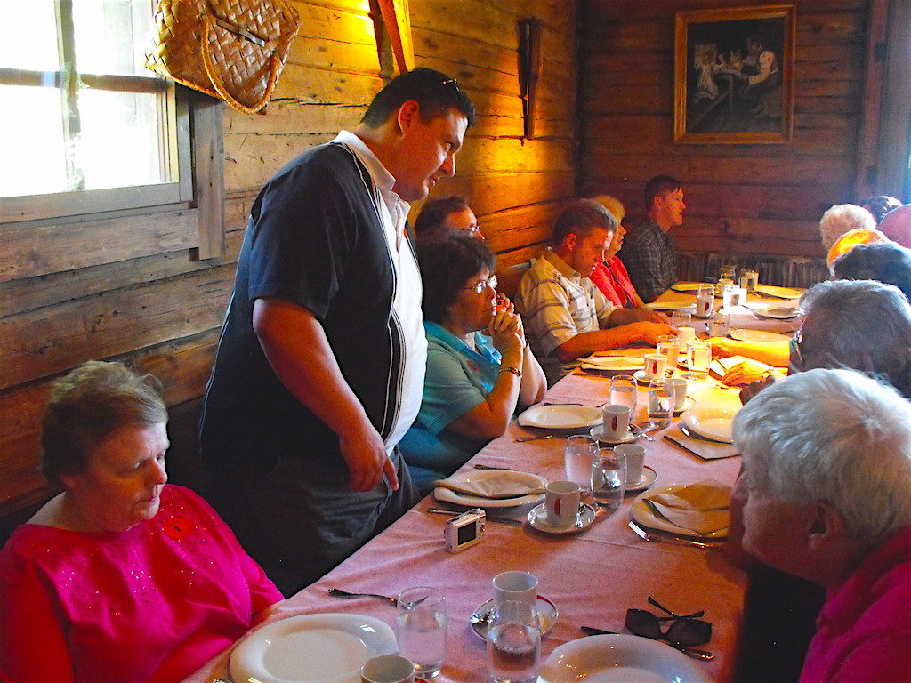 Dave's group enjoys a traditional lunch at an Oslo, Norway restaurant