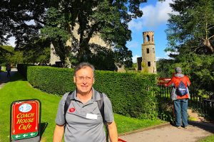 Patrick on the grounds of Blarney Castle in Ireland