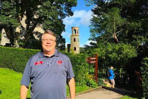 Dave on the grounds of Blarney Castle in Ireland