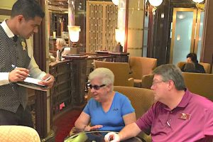 Dave and Esther on the Royal Princess ordering the perfect adult beverages