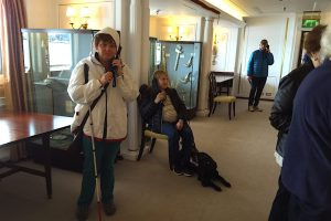 Elaine & Carla take an audio described tour of Britannia
