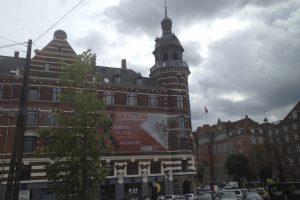 A building near Tivoli Gardens in Copenhagen Denmark