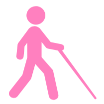 blind cane walker icon