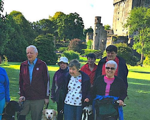 Group at Blarney Castle in Ireland