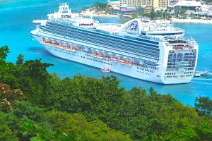 Ruby Princess docked in Ocho Rios, Jamaica